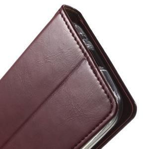 Moon PU kožené pouzdro na mobil Samsung Galaxy Core Prime - vínové - 7