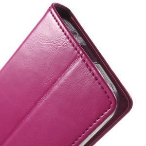 Moon PU kožené pouzdro na mobil Samsung Galaxy Core Prime - rose - 7