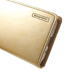 Moon PU kožené pouzdro na mobil Samsung Galaxy Core Prime - zlaté - 7