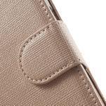 Clothy peněženkové pouzdro na Samsung Galaxy Core Prime - champagne - 7/7