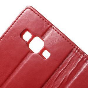 Moonleather PU kožené pouzdro na Samsung Galaxy Core Prime - červené - 7