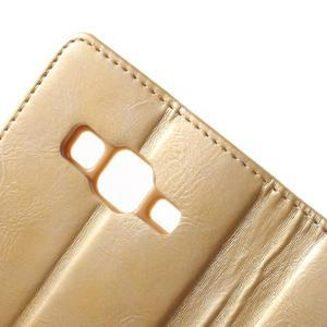 Moonleather PU kožené pouzdro na Samsung Galaxy Core Prime - zlaté - 7