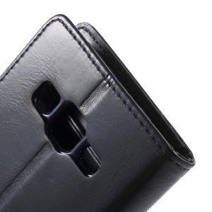 Moonleather PU kožené pouzdro na Samsung Galaxy Core Prime - tmavěmodré - 7