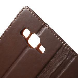 Moonleather PU kožené pouzdro na Samsung Galaxy Core Prime - hnědé - 7