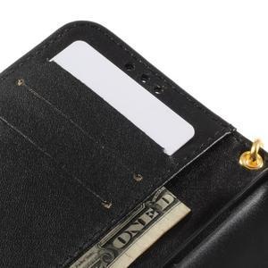 Croco peněženkové pouzdro na Samsung Galaxy Core Prime - černé - 7