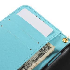 Croco peněženkové pouzdro na Samsung Galaxy Core Prime - modré - 7