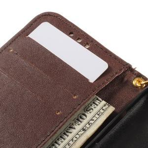 Croco peněženkové pouzdro na Samsung Galaxy Core Prime - coffee - 7