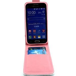 Flipové pouzdro na mobil Samsung Galaxy Core Prime - zamilované sovy - 7