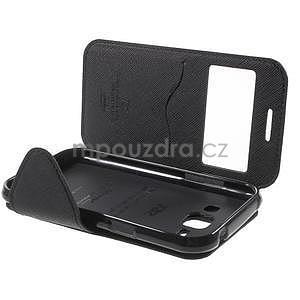 PU kožené pouzdro s okýnkem Samsung Galaxy J1 - černé - 7