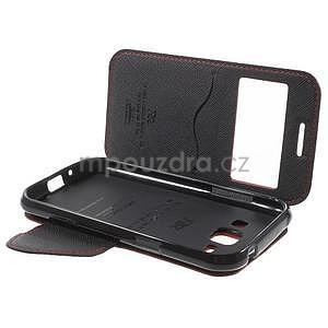 PU kožené pouzdro s okýnkem Samsung Galaxy J1 - červené/černé - 7