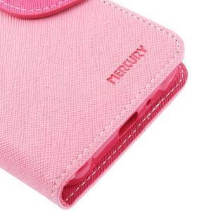 Diary PU kožené pouzdro na Samsung Galaxy J1 (2016) - růžové - 7