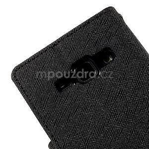 Černé PU kožené pouzdro na Samsung Galaxy J1 - 7