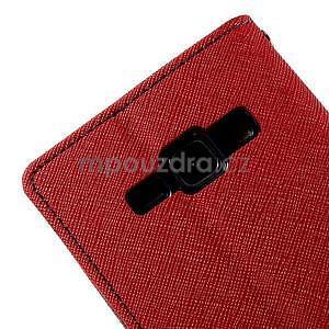 Červené/tmavě modré PU kožené pouzdro na Samsung Galaxy J1 - 7