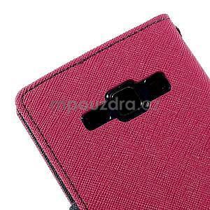 Rose/tmavě modré PU kožené pouzdro na Samsung Galaxy J1 - 7