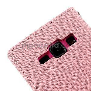 Růžové/rose PU kožené pouzdro na Samsung Galaxy J1 - 7