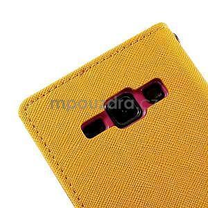 Žluté/rose PU kožené pouzdro na Samsung Galaxy J1 - 7