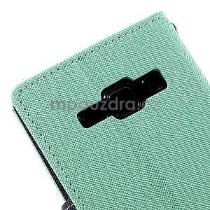 Azurové/tmavě modré PU kožené pouzdro na Samsung Galaxy J1 - 7