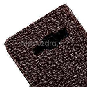 Hnědé/černé PU kožené pouzdro na Samsung Galaxy J1 - 7