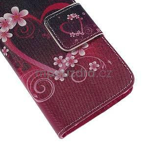 Zapínací pouzdro pro Samsung Galaxy J1 - květinové srdce - 7