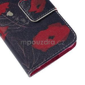 Zapínací pouzdro pro Samsung Galaxy J1 - červená květina - 7