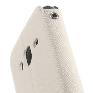 Roar PU kožené pouzdro s okýnkem na Samsung Galaxy J3 (2016) - bílé - 7