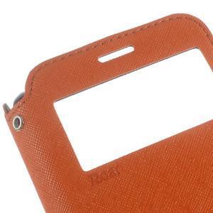 Roar PU kožené pouzdro s okýnkem na Samsung Galaxy J3 (2016) - oranžové - 7