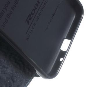Roar PU kožené pouzdro s okýnkem na Samsung Galaxy J3 (2016) - světlemodré - 7