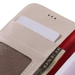 High PU kožené pouzdro na mobil Samsung Galaxy J3 (2016) - bílé - 7