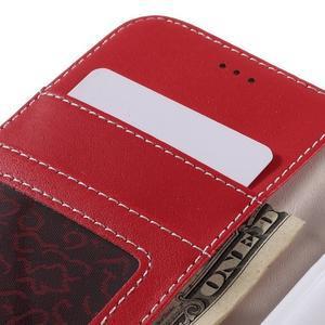 High PU kožené pouzdro na mobil Samsung Galaxy J3 (2016) - červené - 7