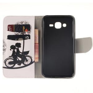 Standy peněženkové pouzdro na Samsung Galaxy J5 - láska na kole - 7