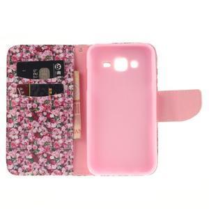 Standy peněženkové pouzdro na Samsung Galaxy J5 - růže - 7