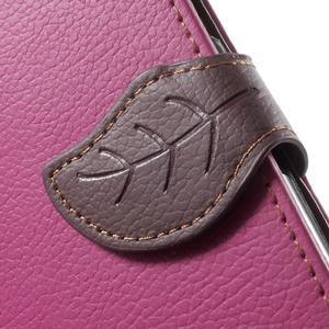 Leaf peněženkové pouzdro na Samsung Galaxy J5 - rose - 7