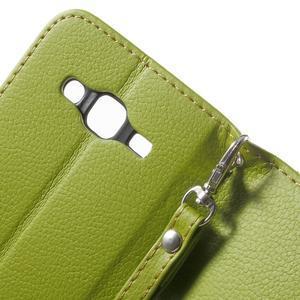 Leaf peněženkové pouzdro na Samsung Galaxy J5 - zelené - 7