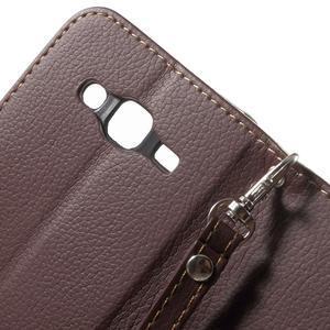 Leaf peněženkové pouzdro na Samsung Galaxy J5 - hnědé - 7