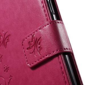 Butterfly PU kožené pouzdro na Samsung Galaxy J5 - rose - 7