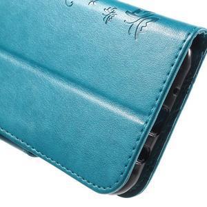 Butterfly PU kožené pouzdro na Samsung Galaxy J5 - modré - 7