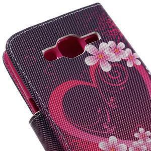 Dairy peněženkové pouzdro na Samsung Galaxy J5 - srdce - 7