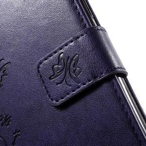 Butterfly PU kožené pouzdro na Samsung Galaxy J5 - fialové - 7