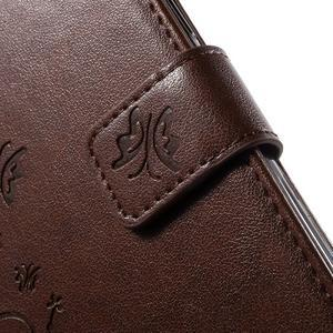 Butterfly PU kožené pouzdro na Samsung Galaxy J5 - hnědé - 7