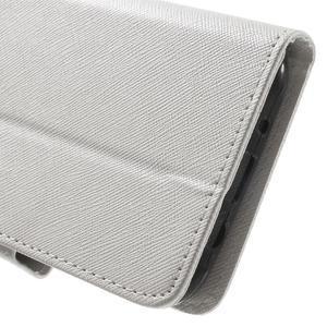 Crossy koženkové pouzdro na Samsung Galaxy J5 - bílé - 7