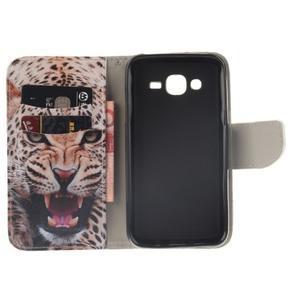 Standy peněženkové pouzdro na Samsung Galaxy J5 - leopard - 7