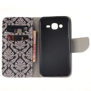 Standy peněženkové pouzdro na Samsung Galaxy J5 - retro totem - 7