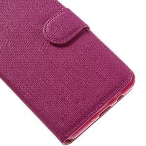 Cloth PU kožené pouzdro na Samsung Galaxy J5 (2016) - rose - 7
