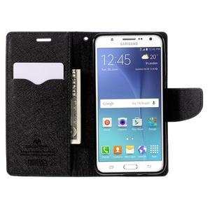 Diary PU kožené pouzdro na mobil Samsung Galaxy J5 (2016) - černé - 7