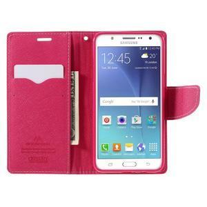 Diary PU kožené pouzdro na mobil Samsung Galaxy J5 (2016) - růžové - 7