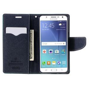 Diary PU kožené pouzdro na mobil Samsung Galaxy J5 (2016) - azurové - 7