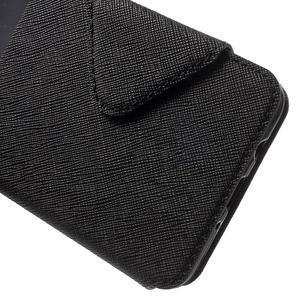 Knížkové pouzdro s okýnkem na Samsung Galaxy J5 (2016) - černé - 7
