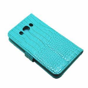 Croco peněženkové pouzdro na Samsung Galaxy J5 (2016) - modré - 7