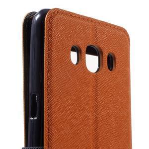 Knížkové pouzdro s okýnkem na Samsung Galaxy J5 (2016) - oranžové - 7