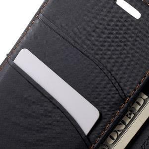Gentle PU kožené peněženkové pouzdro na Samsung Galaxy J5 (2016) - černé - 7